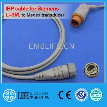 drager 10pin IBP cable for Medex disposable pressure transducer image