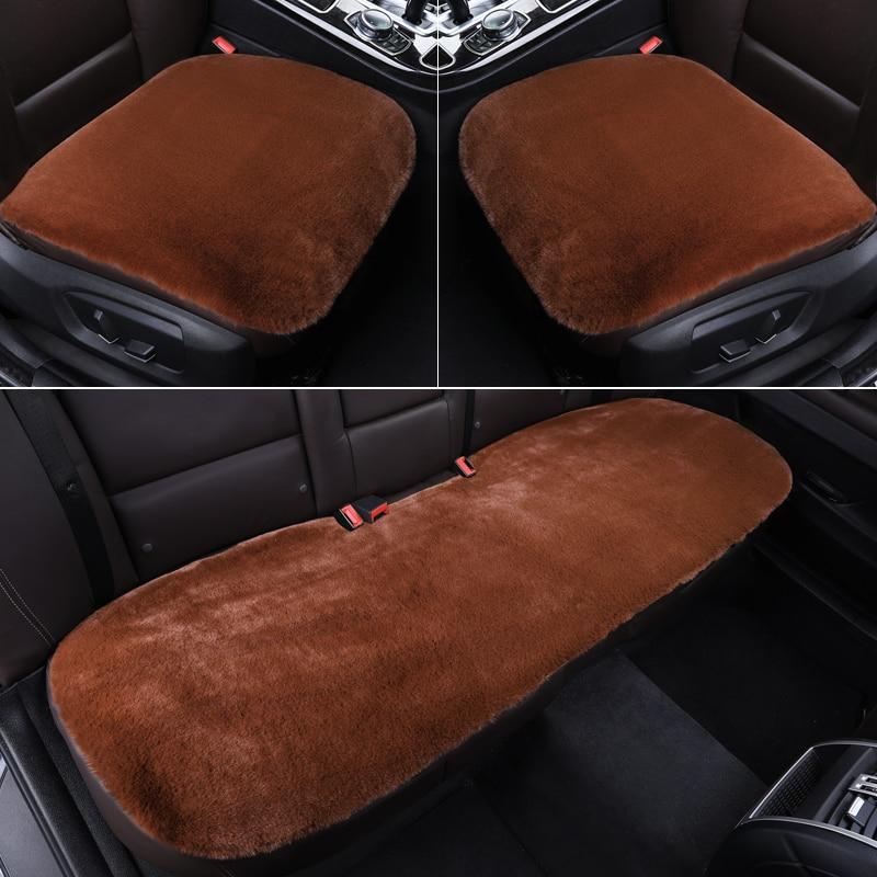 Купить зимние теплые универсальные меховые чехлы для автомобильных