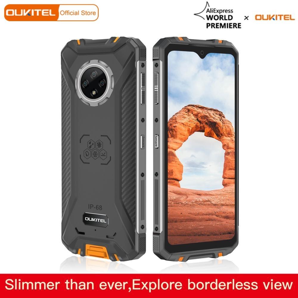 "OUKITEL WP8 Pro NFC Android 10 IP68 resistente Teléfono de deportes móvil 6,49 ""huella digital 4GB 64GB 5000mAh 16MP Triple Cámara"