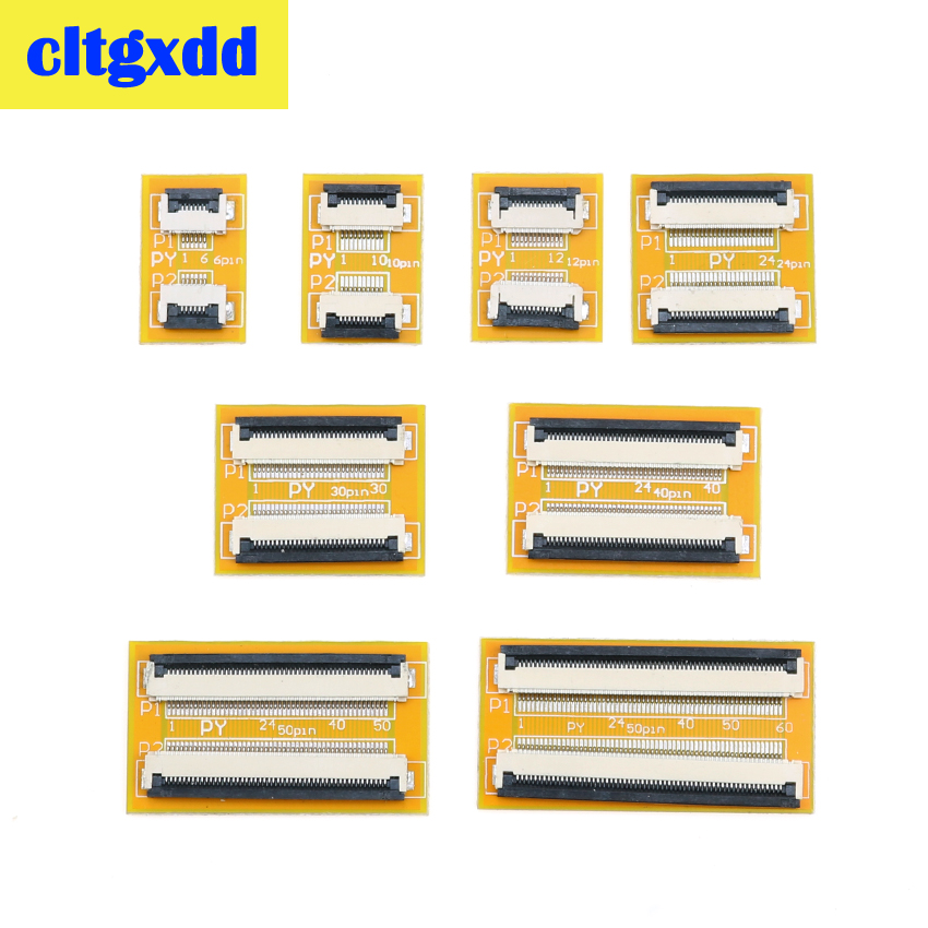 Cltgxdd FPC FFC Flexible Flat Cable Extension Connection Board 0.5 Mm PCB Pitch 6 10 12 24 30 40 50 60 PIN Connector FPC Adapter