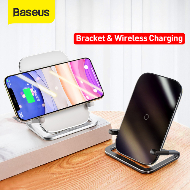 Baseus 15W Fast Qi Wireless Charger Desktop Holder Wireless Charger Pad For iPhone11XS X Max For SamsungS10 S9 Stand Charger