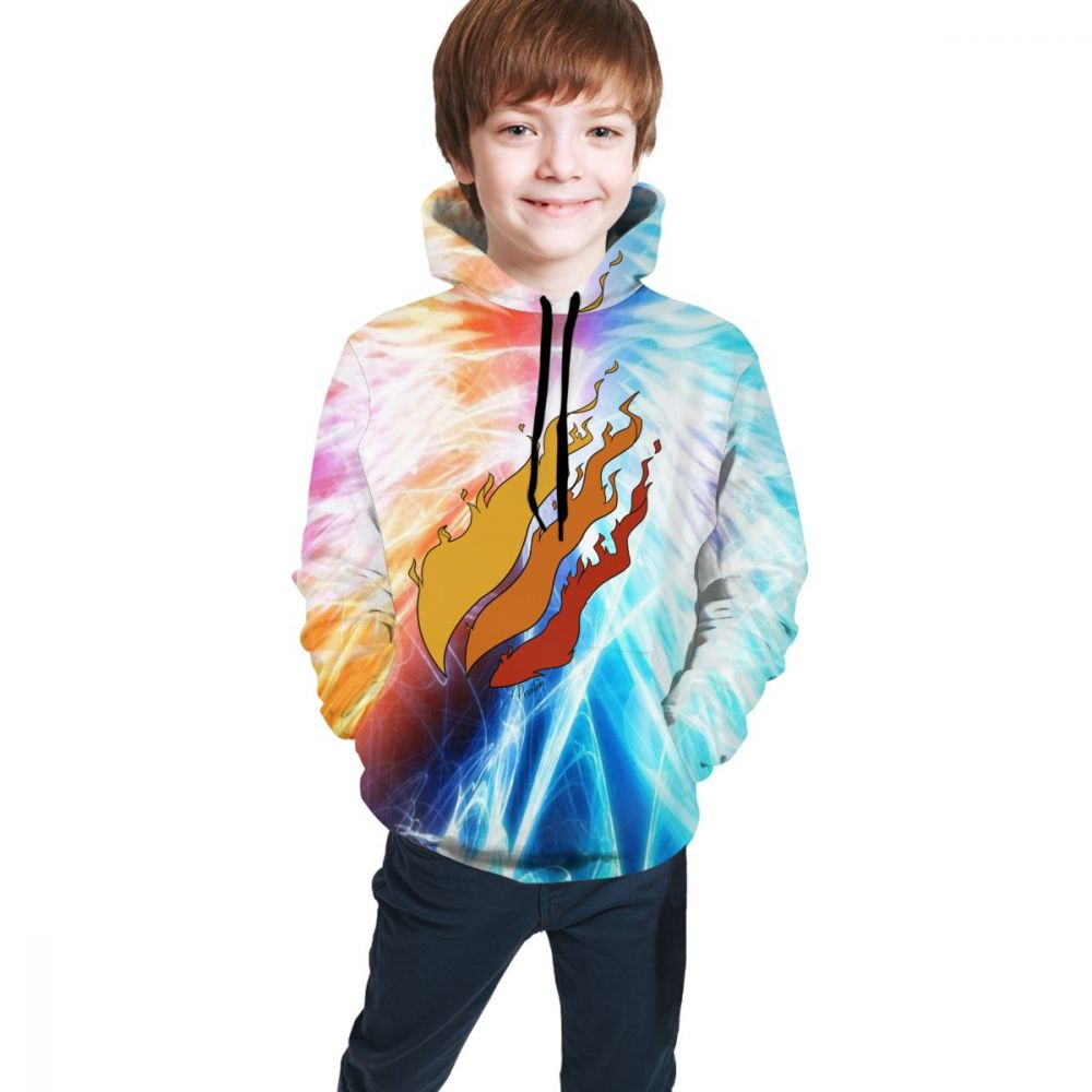 3d Print Preston Playz Yellow And Blue Fire Logo Autumn Kids Sweatshirt Boy/girl Hoodies Outwear Winter Handsome Hooded Jacket