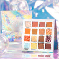 Paleta de sombra de cristal focallure 16 cores polvilhar tons de paleta alta pigmentada sombra de olho maquiagem