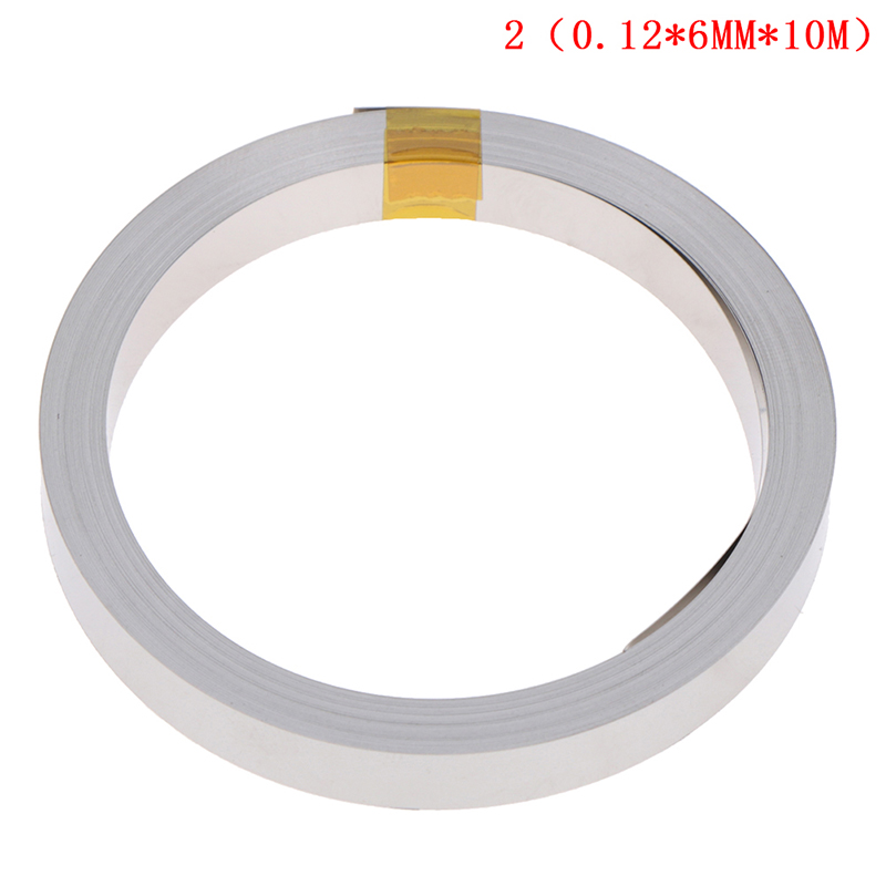10M 6mmx0.12mm Ni Plate Nickel Strip Tape For Li 18650 26650 Battery Spot Welding New