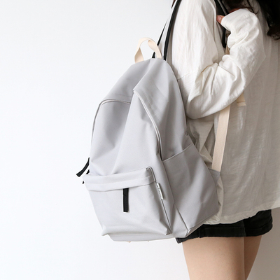 Image 4 - Simple Classic Designe Canvas Women Backpack School Student Book Bag Leisure Travel Young-in Backpacks from Luggage & Bags
