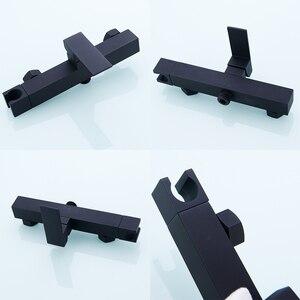 Image 3 - Messing Handheld Bidet Douche Sproeier Met Warm En Koud Mengkraan & 1.5 M Doucheslang Kit Muur Mount Matte zwart