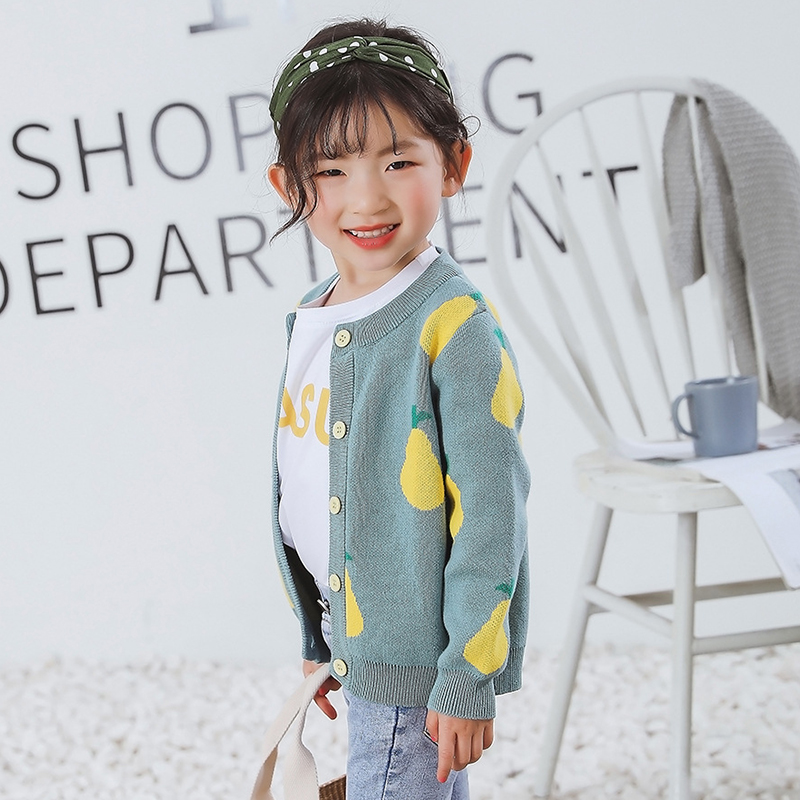 New Girl Cartoon Sweaters Baby Cotton Knit Cardigan Sweater Kids Long Sleeve Autumn Children Clothes Fashion Boy Girl Outer Wear 3