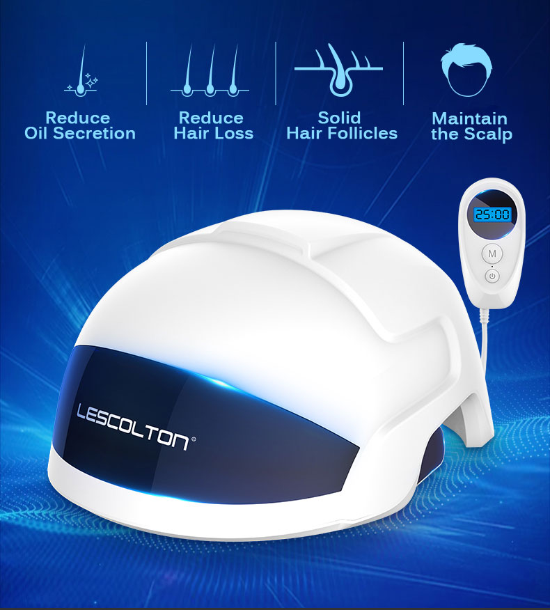 Lescolton Laser Therapy Hair Growth Helmet Product Treat Thin Hair Infrared Restore Hair Thickness Anti Hair Loss Cap
