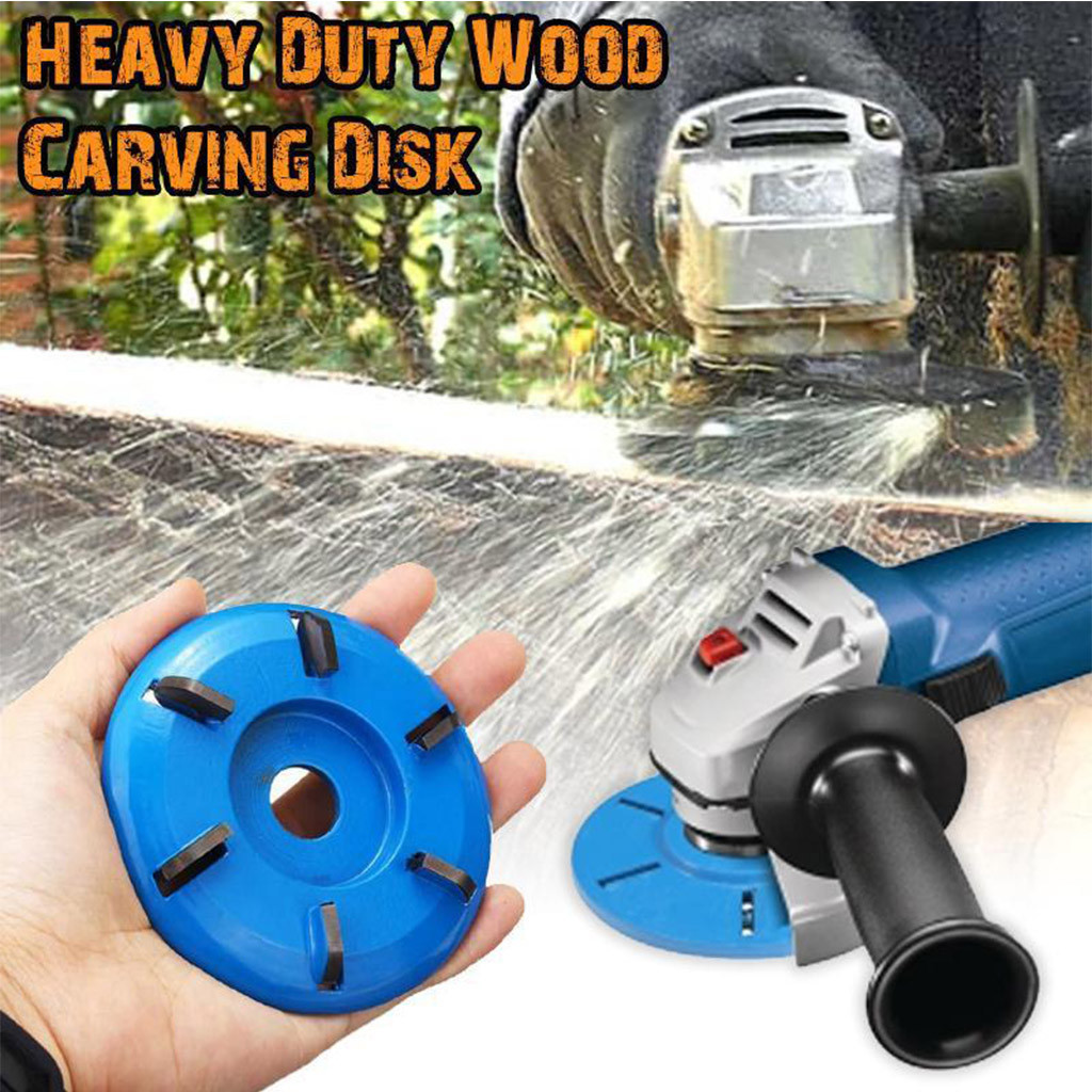 6 Teeth Arc Flat Wood Working Carving Disc Milling Cutter For  Angle Grinder