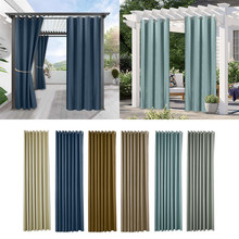 Cores ao ar livre cortina cortina blackout luz bloqueio desvanece-se resistente com ilhós à prova de ferrugem pátio para jardim varanda praia