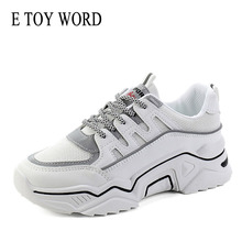 E TOY WORD Women shoes running 2019 spring new mesh breathable casual sports women autumn Platform
