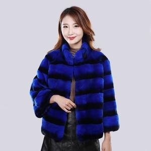 Image 5 - 2020 Hot Sale Women Winter Hight Quality Real Rex Rabbit Fur Coat Russia Lady Warm Natural 100% Genuine Rex Rabbit Fur Jacket