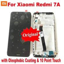 100% original melhor 10 pontos para xiaomi redmi 7a display lcd painel da tela de toque digitador assembléia sensor vidro + quadro pantalla
