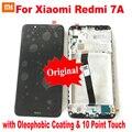 ЖК-дисплей с 10 точками для Xiaomi Redmi 7A, сенсорный экран, панель, дигитайзер в сборе, стеклянный датчик + рамка