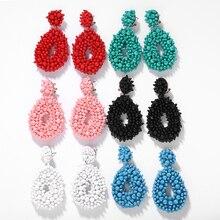 Dvacaman 6 teile/satz Perlen Tropfen Ohrringe Frauen Handgemachte Große Aussage Ohrringe Hochzeit Baumeln Ohrringe Großhandel Dropshipping