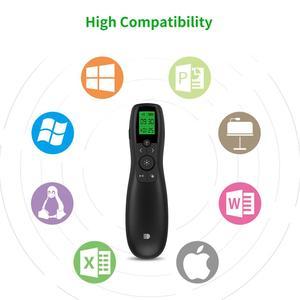 Image 5 - Présentateur sans fil, télécommande de présentation Doosl avec récepteur type c, pointeur vert, écran LED, Clicker PowerPoint pour réunion