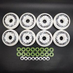 free shipping roller wheel skate wheel 80 mm 8 pcs / lot 85 A inline fsk wheel