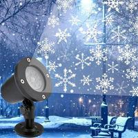Светодиодный светильник на Рождество, уличный водонепроницаемый проекционный светильник в виде снежинки, проектор, светильник ing для газон...