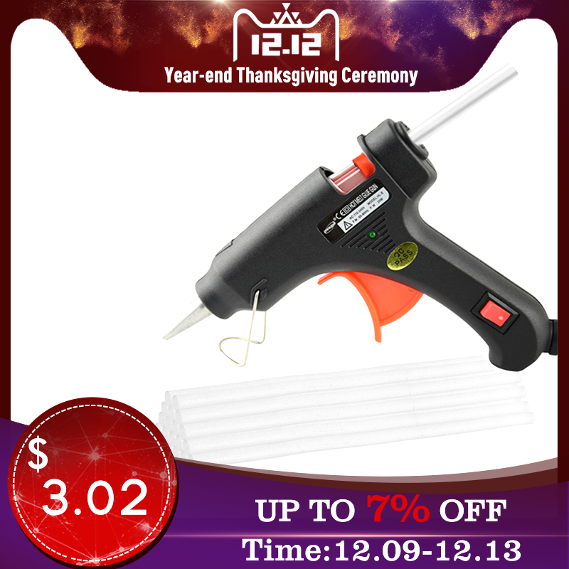 High Temperature Heating Hot Melt Glue Gun 20W Repair Tool Heat Gun Mini Eu Standard Plug Use 7 X 180 Mm Glue Stick DIY Glue Gun