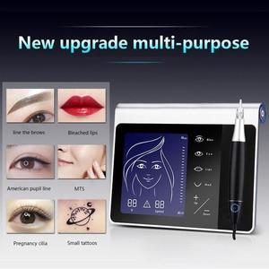 Image 2 - חדש מגע מסך קבוע איפור מכונת ערכת גבות שפתיים אייליינר מכונת עם 50pcs מחסנית Neeldes נטענת סוללה