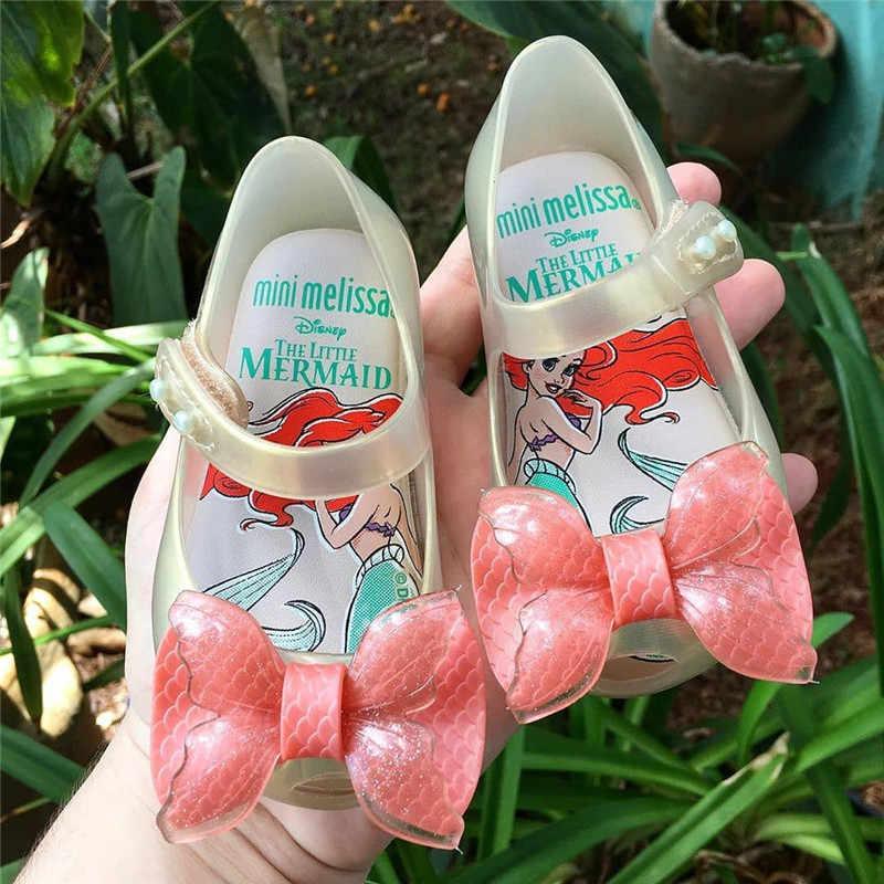 หญิง 2020 ใหม่ MINI MELISSA Mermaid Jelly รองเท้าเด็กชายหาดรองเท้าแตะรองเท้าแตะเด็ก Candy ลื่น Melissa รองเท้าแตะ SH19107