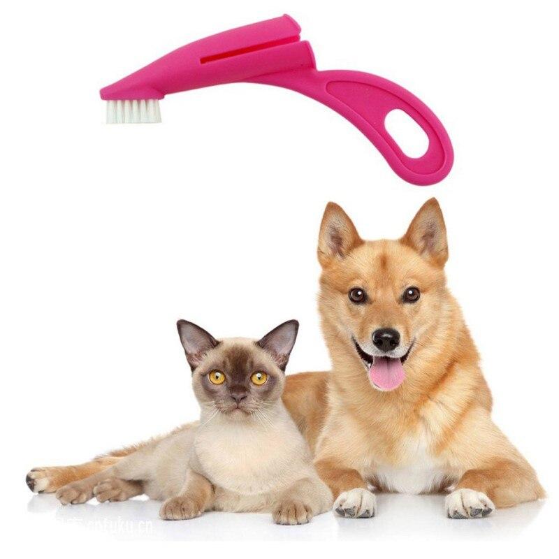 font b Pet b font Finger Toothbrush For Dog Cat Soft Brush Teeth Care Dog