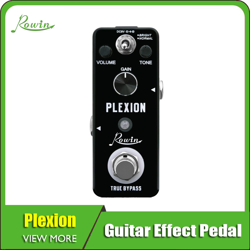 Rowin Plexion Distortion Pedal For Guitar And Bass With Bright And Normal Mode