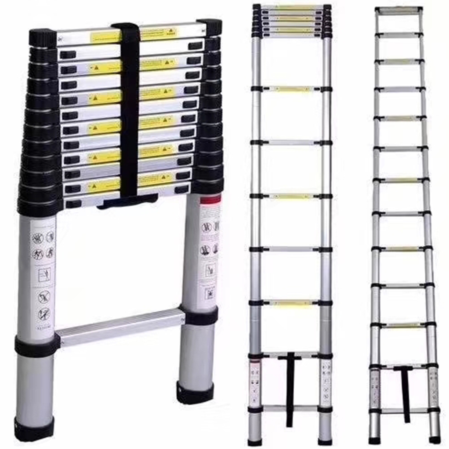 Extension Telescopic Ladders Portable Expandable Retractable Foldable Aluminum Ladder With One Button Collapsible Folding