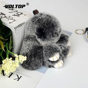Image 2 - Plush Rabbit Keychain Car Pendant Girl Car Accessories Interior Dashboard Decoration Fashion Bag Pendant Gift