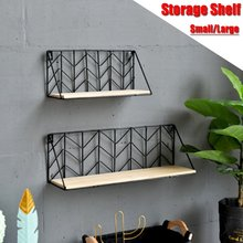 Suporte de parede decorativo, armação de ferro para decoração de parede, exibição de parede, cesta multifuncional, estante de metal para parede