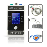 Patient Monitor Vital Signs Monitor ECG NIBP SPO2 PR 4 Parameters Pulse and temperature Blood pressure Monitor Support APP or PC