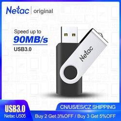 Металлический флеш-накопитель Netac USB 3,0, ЧЕРНЫЙ Флеш-накопитель 64 Гб/32 ГБ/16 ГБ, флешка, USB карта памяти 2,0, USB диск, USB флеш-накопители
