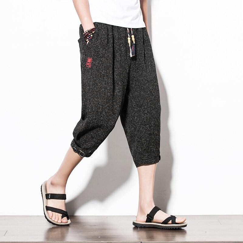 Linen Mens Shorts Plus Size Big Sport Summer Stretch Shorts Men Loose Beach Tights Sweat Fashion Roupas Mens Clothing XX60MS