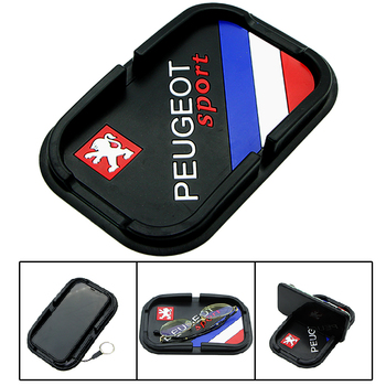 Car Badge Car Dashboard Non Slip Grip Pad Phone GPS Holder Mat for Peugeots 107 108 206 207 308 307 508 2008 3008 Style image
