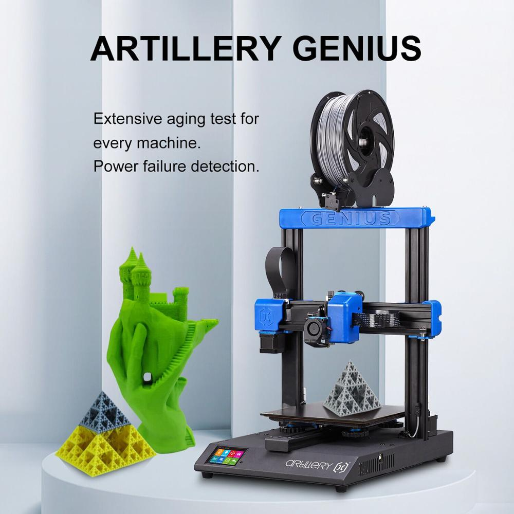 2020 Newest Artillery Genius 3D Printer Kit 220 220 250mm Print Size with Ultra-Quiet Stepper Motor TFT Touch Screen