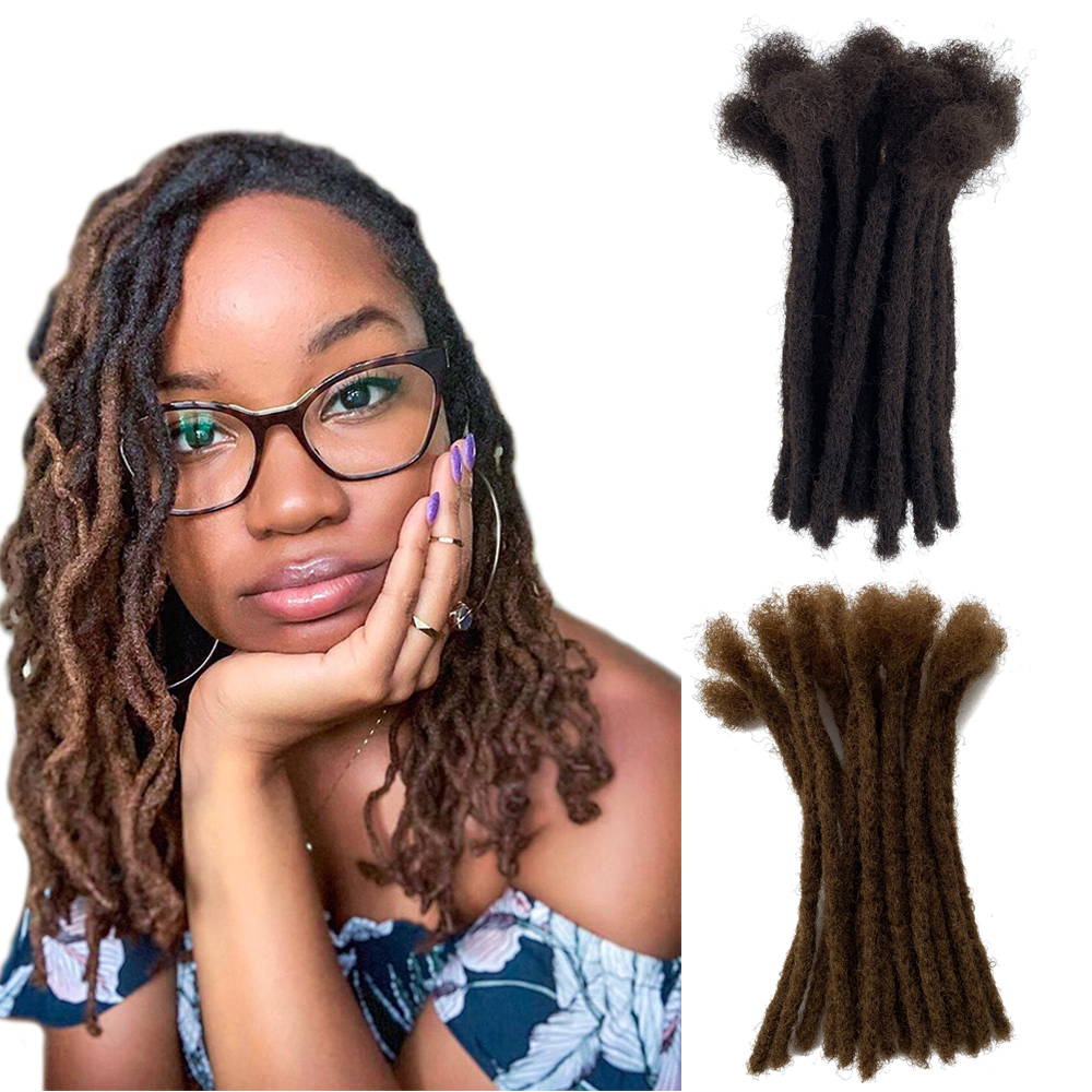 YONNA 100% Human Hair Small Size (0.4cm Width) Dreadlocks Extensions Full Handmade SOLD 60locs IN A BUNDLE #2 And #6
