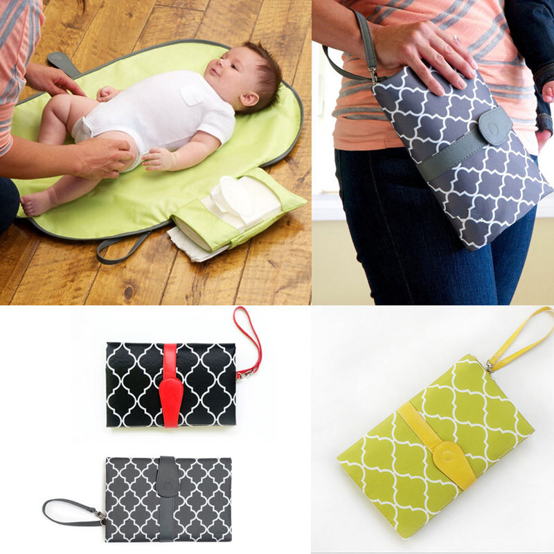 Hot 2019 Baby Portable Folding Diaper Changing Pad Waterproof Mat Fancy Bag Travel Storage