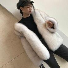 Женская зимняя Толстая теплая меховая куртка шуба из натурального