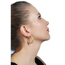 2019  Women's fashion Micro inlay earrings Zircon earrings Exaggerated earrings Ladder earrings popular jewelryPendant earring