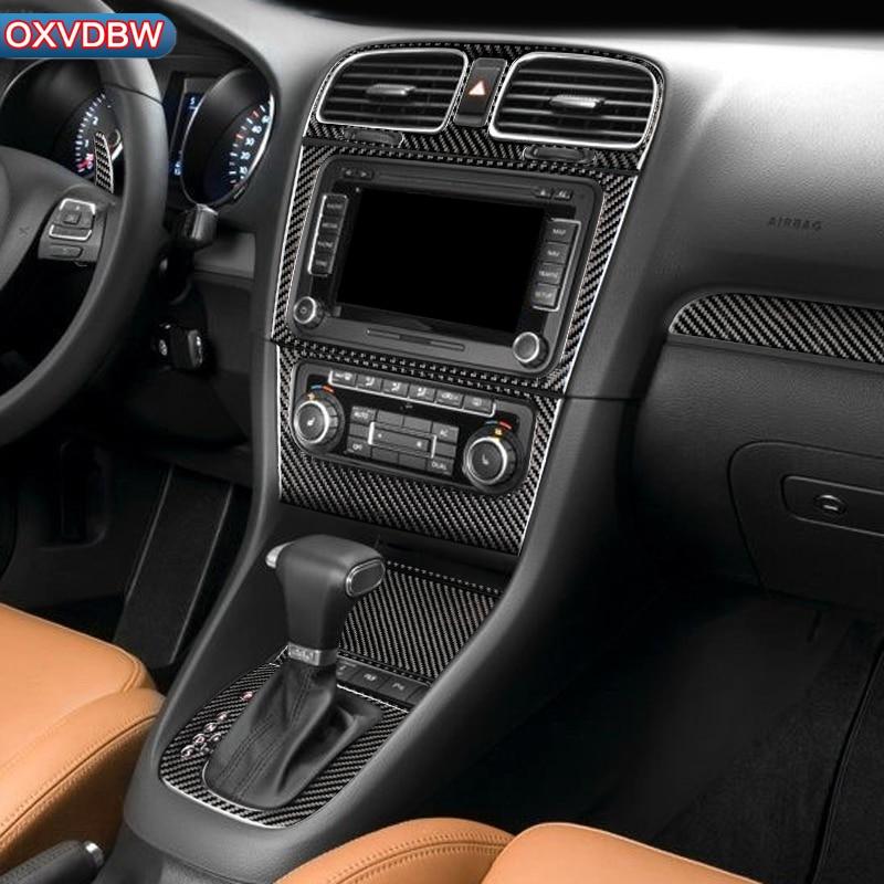 For Volkswagen Golf 6 Gti R MK6 Accessories LHD RHD Car Styling Carbon Fiber Steering Wheel Gear Door Panel  Internal Stickers