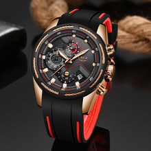 LIGE New Mens Watches Top Luxury Brand Men Unique Sports Watch Men's Quartz Date Clock Waterproof Wrist Watch Relogio Masculino(China)