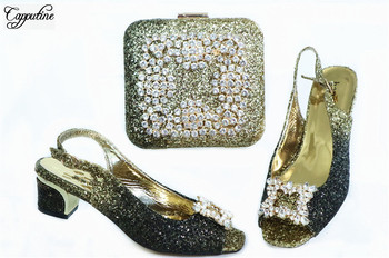 Party shoes with handbag set fashion sandals and purse bag set GL1912-4  Heel Height 4.5cm