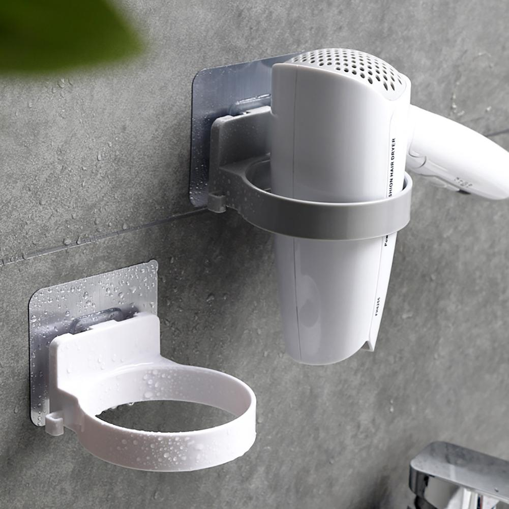 Nice Durable Bathroom Wall Mounted Electric Hair Dryer Holder Storage Rack ABS Shelf Organizer