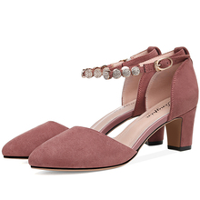Sweet Style Women Pumps Pointed Toe Women Party Shoes Square Heels Buckle Strap Shoes PU Leather Women Shoes 3-110 heinz strunk jürgen
