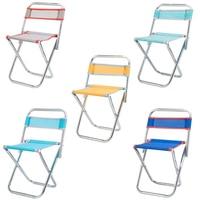 Spor ve Eğlence'ten Balıkçılık Sandalyeleri'de Paslanmaz çelik katlanır sandalye açık taşınabilir fileli sandalye balıkçı taburesi katlanır sandalye kamp seyahat sandalye rastgele renk ile bac