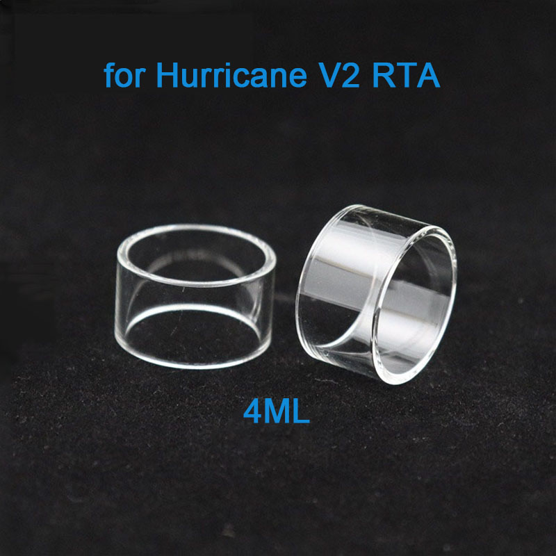 3PCS Hight Quality Replacement Glass Tube For Hurricane V2 RTA Atomizer 4ml