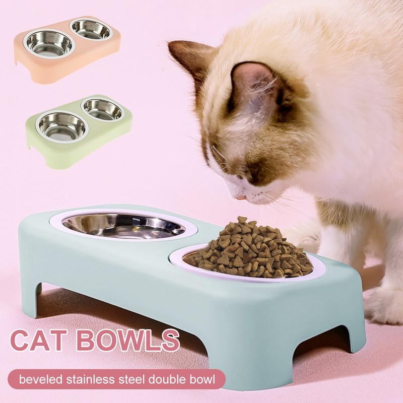Cat Feeding Double Bowl  1