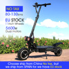 FLJ Upgraded 5600W Dual Motor Electric Scooter with On Roand or off road tire 2 big LED scooter lights electric bike e scooter