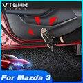 Защитные наклейки Vtear для автомобильных дверей мазда Mazda 3 Bp 2020 2021, защита от ударов, углеродное волокно, Внутренняя дверь, боковая кромка, пле...