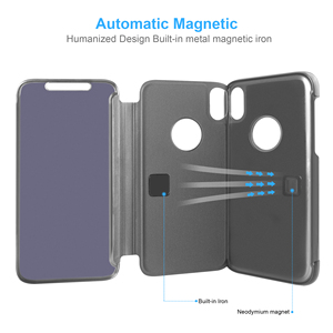Image 4 - กระจกกรณีพลิกสำหรับ iphone 5s 5 se Clear view ฝาครอบ iphone 6 6s 7 8 plus สำหรับ iphone XR Xsmax ป้องกัน